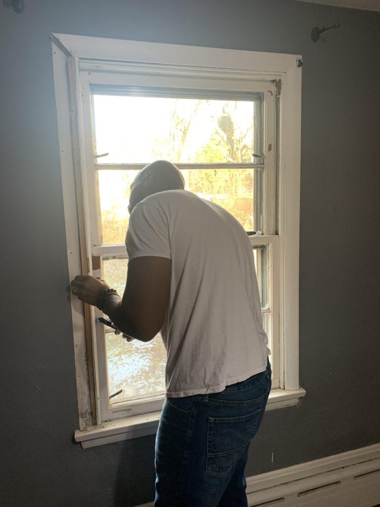 DIY remodel window trim removal