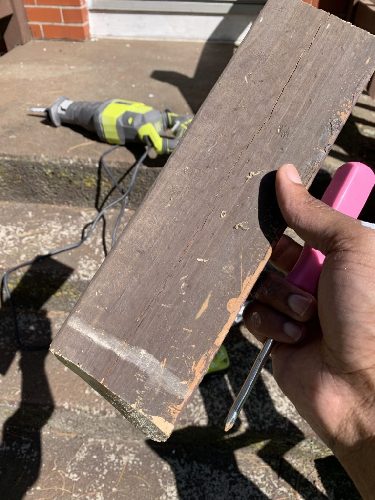 DIY prepare replacement wood