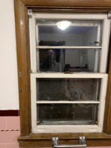 Remove a bathroom window